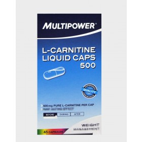 MULTIPOWER L-CARNITINE LIQUID CAPS 500 45 CAPSULE