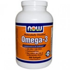 NOW OMEGA-3 1000MG 500 SOFTGET