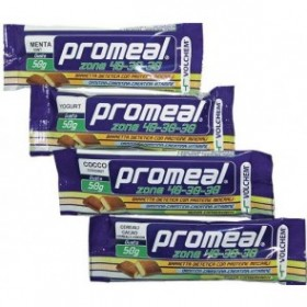 PROMEAL ZONE 40-30-30 - 24 bar da 50g (2 BLOCCHI) GUSTO FRAGOLA
